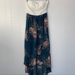 Lilly Rose Strapless Floral Dress A39